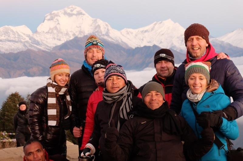 Cu Annapurna pe fundal.