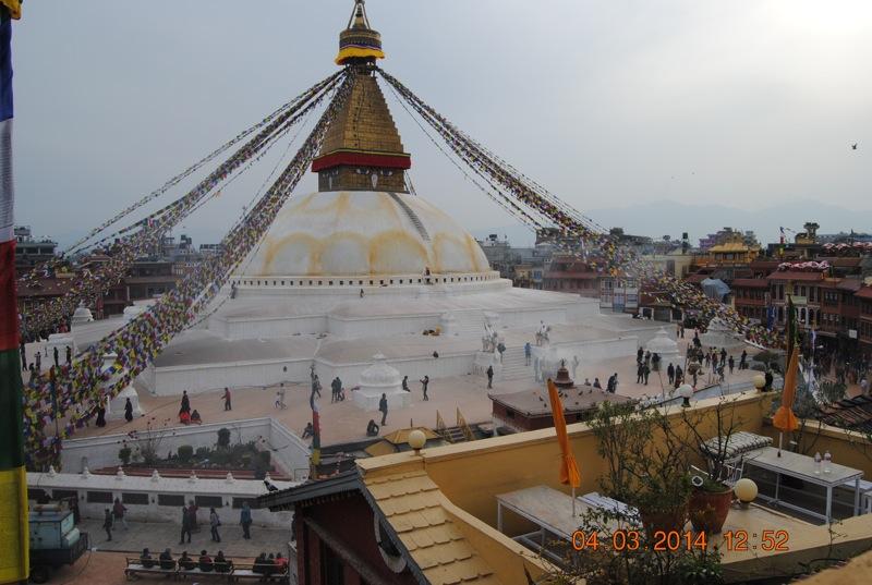 Boudhanath, cea mai mare stupa din Nepal.