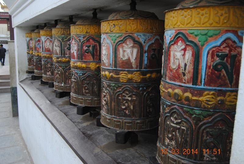 Roti tibetane de rugaciune.