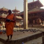 Bhikkhu in Piata Durbar