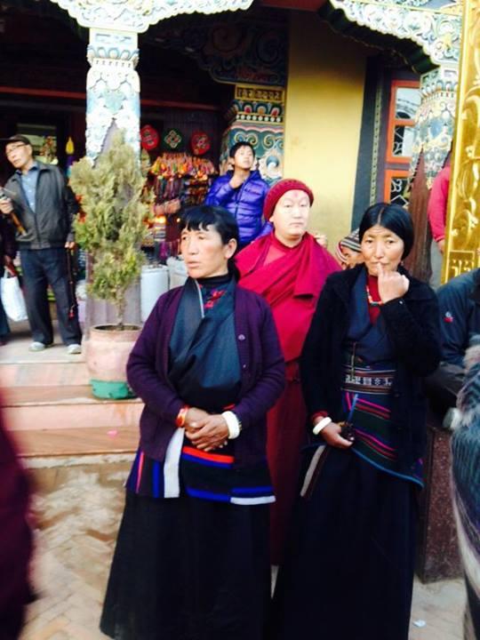 Tibetane la Boudhanath